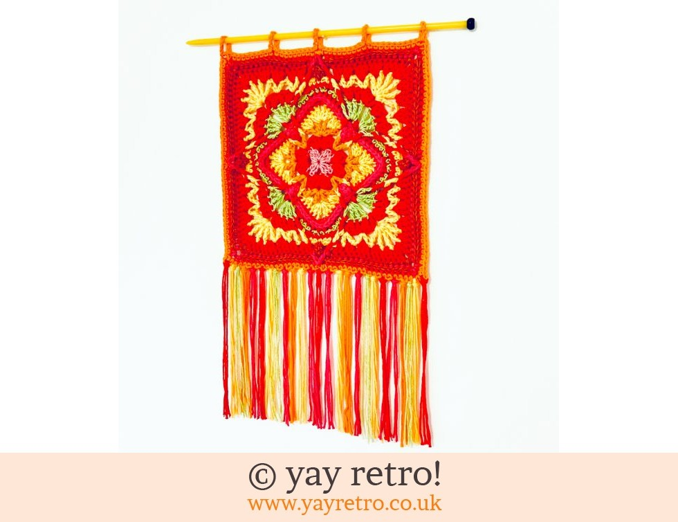 yay retro!: 'Strawberry Fields' Crochet Wall Hanging (£20.00)