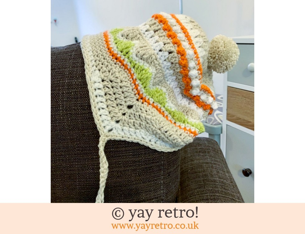 yay retro!: Crochet Hat with Ear Flaps (£19.50)