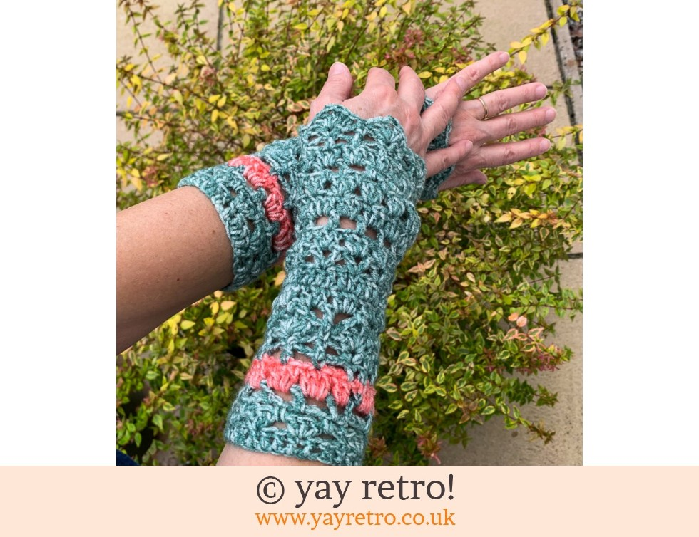 yay retro!: 'Spring' Crochet Wrist Warmers (£15.00)