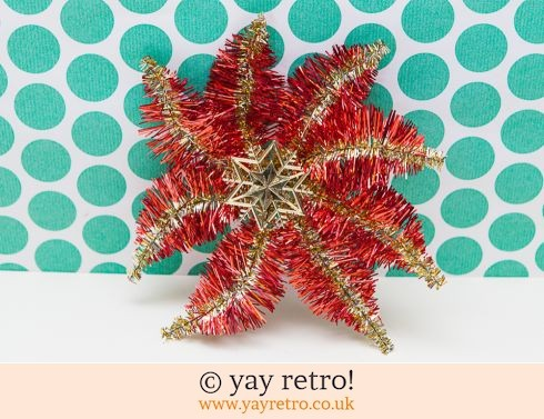 0: Large Vintage Tinsel Star (£5.00)