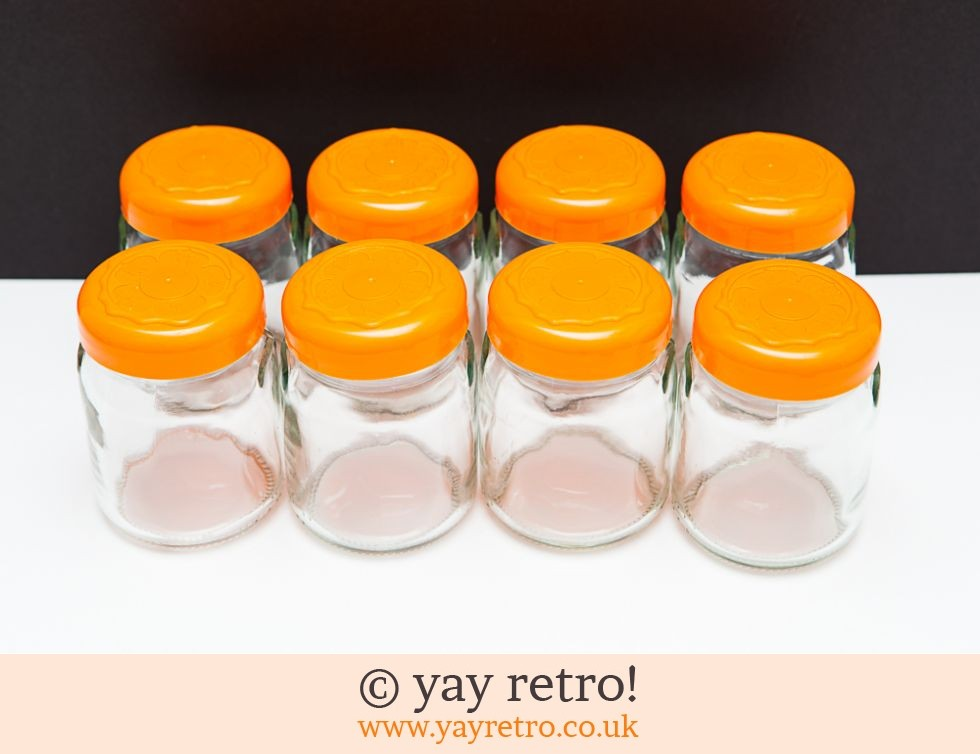 orange storage jars kitchen 8 glass storage jars orange vintage shop retro china 3766