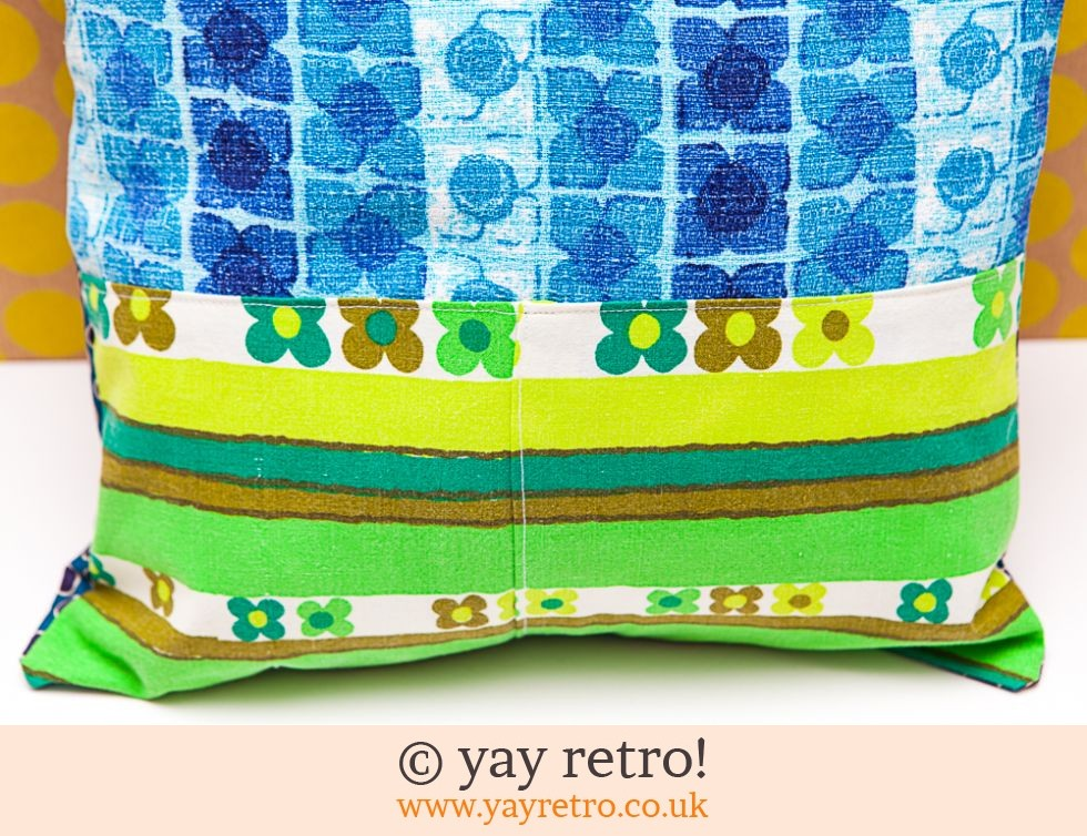 Vintage Patchwork Cushion 60/70s (£12.95)