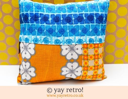 0: Vintage Patchwork Cushion 60/70s (£12.00)