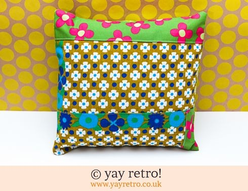 0: Vintage Fabric Patchwork Cushion - complete (£12.99)