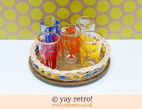 0: Tall Cocktail Shot Glasses + Free Vintage Tray (£14.00)