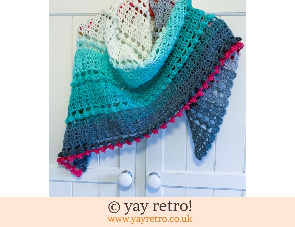 yay retro!: 'Mint Cake' Crochet Shawl / Wrap (£32.50)