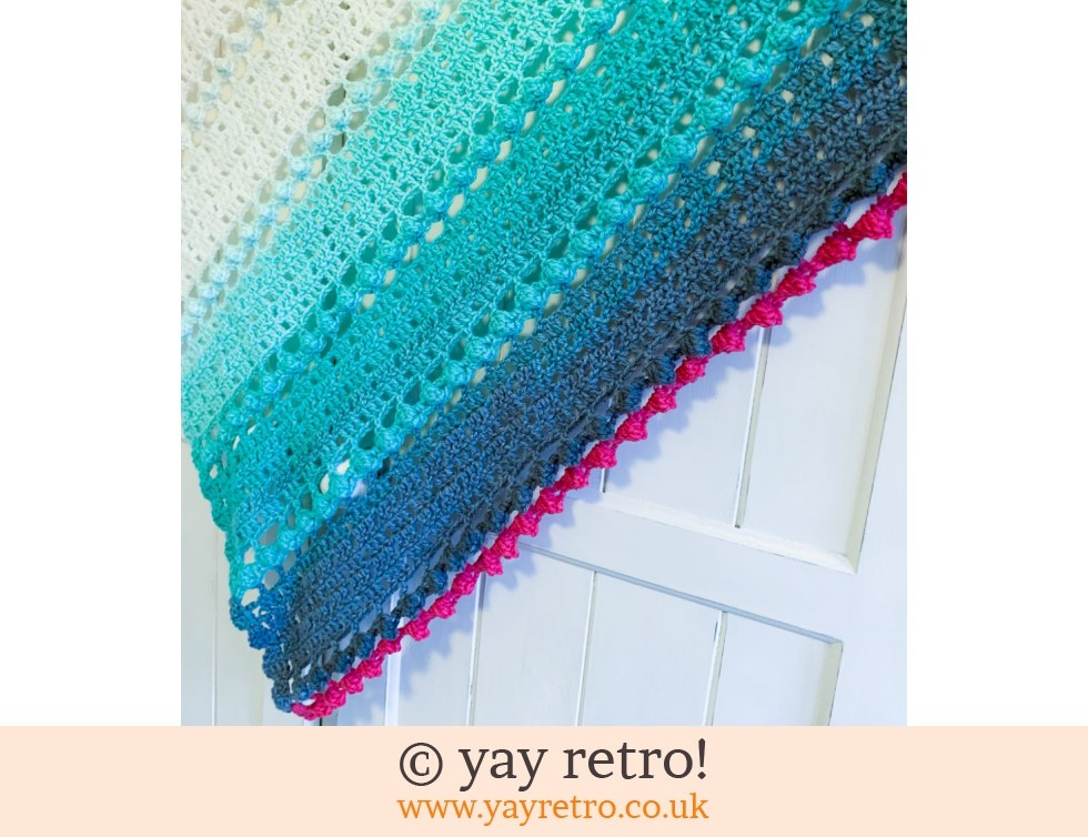 'Mint Cake' Crochet Shawl / Wrap (£32.50)