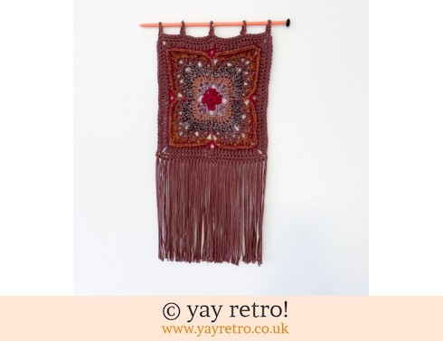 'Earth Flower' Crochet Wall Hanging (£19.50)