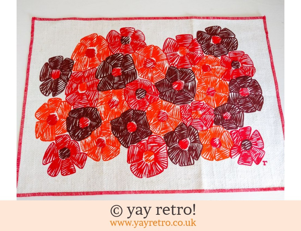 Funky Flowery Table Mat (£2.75)