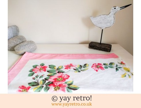 1980s Rose tablecloth (£14.00)