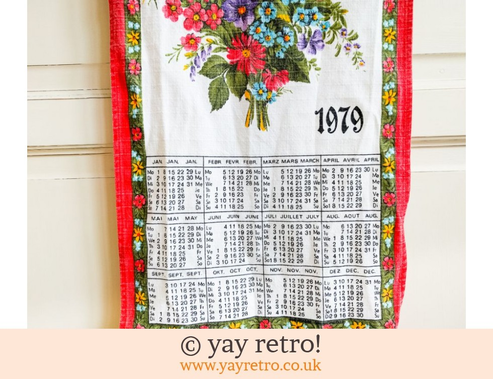 1979 Calendar Tea Towel (£4.00)