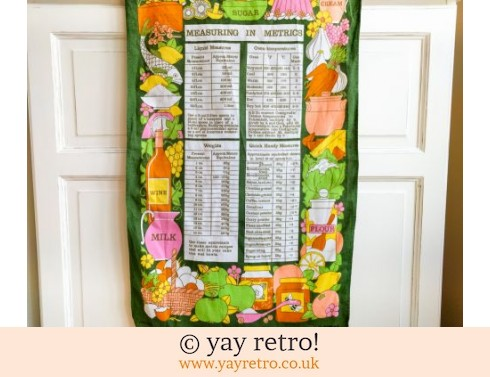 0: Metric Measures Tea Towel 1970s (£9.50)