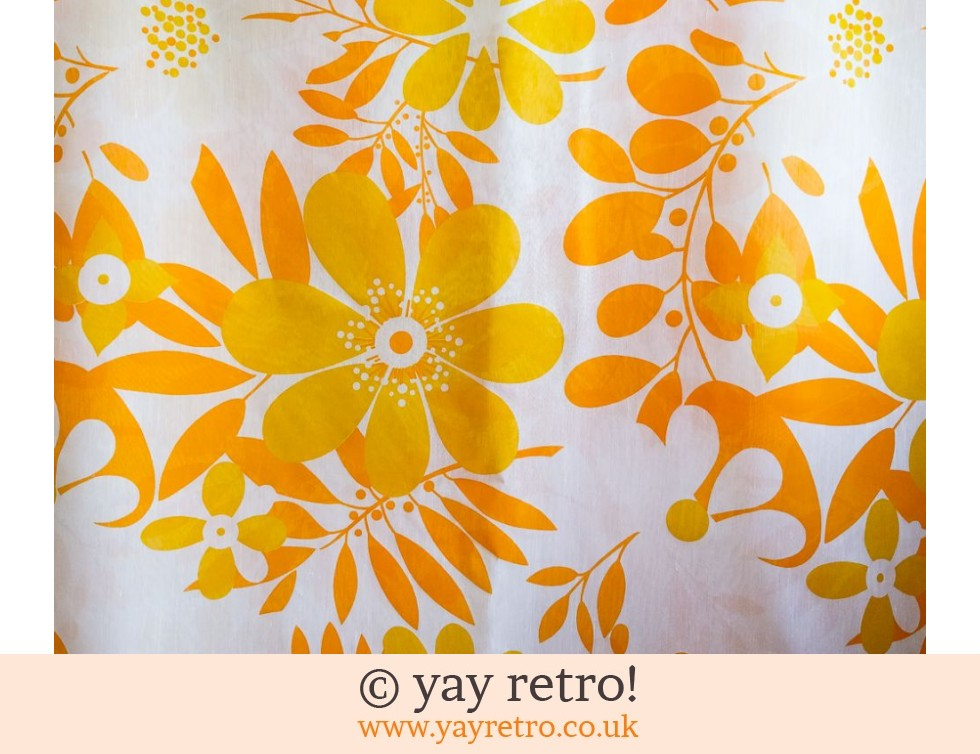Sheer Vintage Voile Bright Orange & Yellow (£12.00)