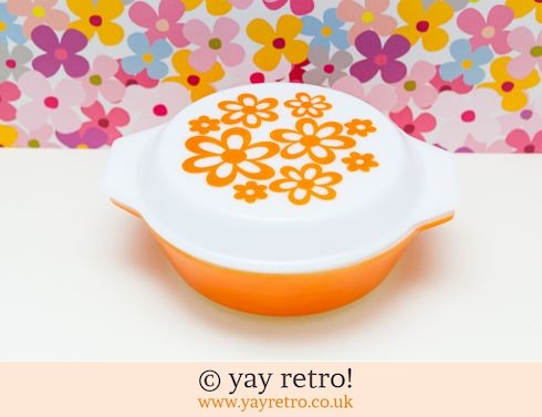 12: Orange Daisy Pyrex Casserole (£29.50)