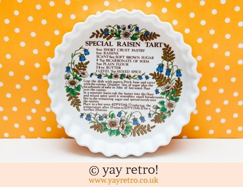 244: Recipe Flan Dish - Raisin Tart 70s (£5.50)