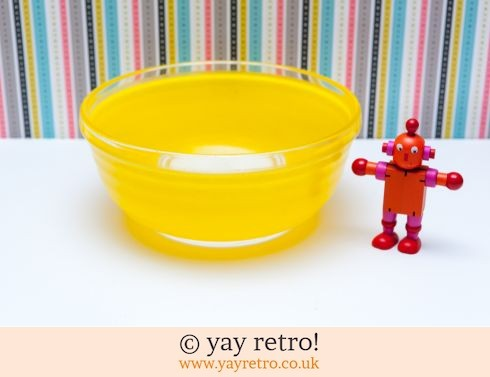 111: Bright Yellow Vintage Mixing Bowl (£10.00)