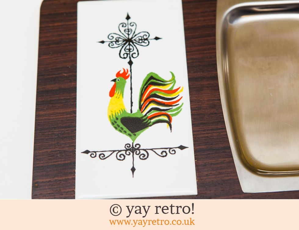 60s Tile Serving/Chopping Board - boxed (£12.75)