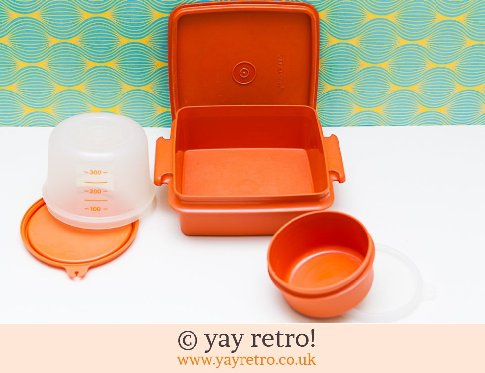 Orange Vintage Tupperware Set (£14.75)