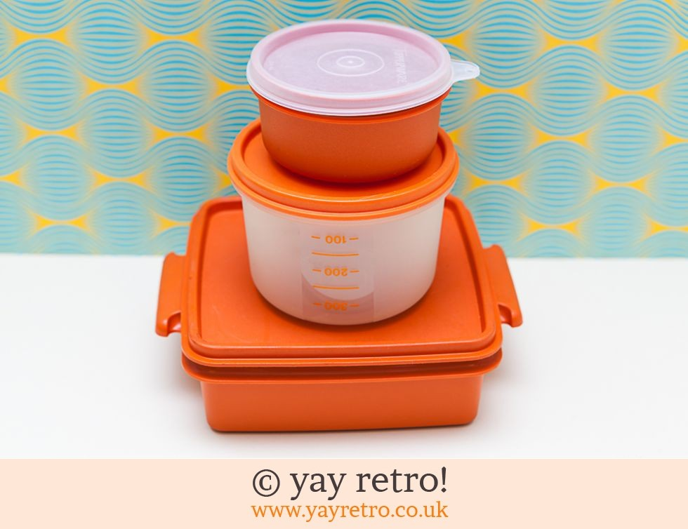 Tupperware: Orange Vintage Tupperware Set (£14.75)