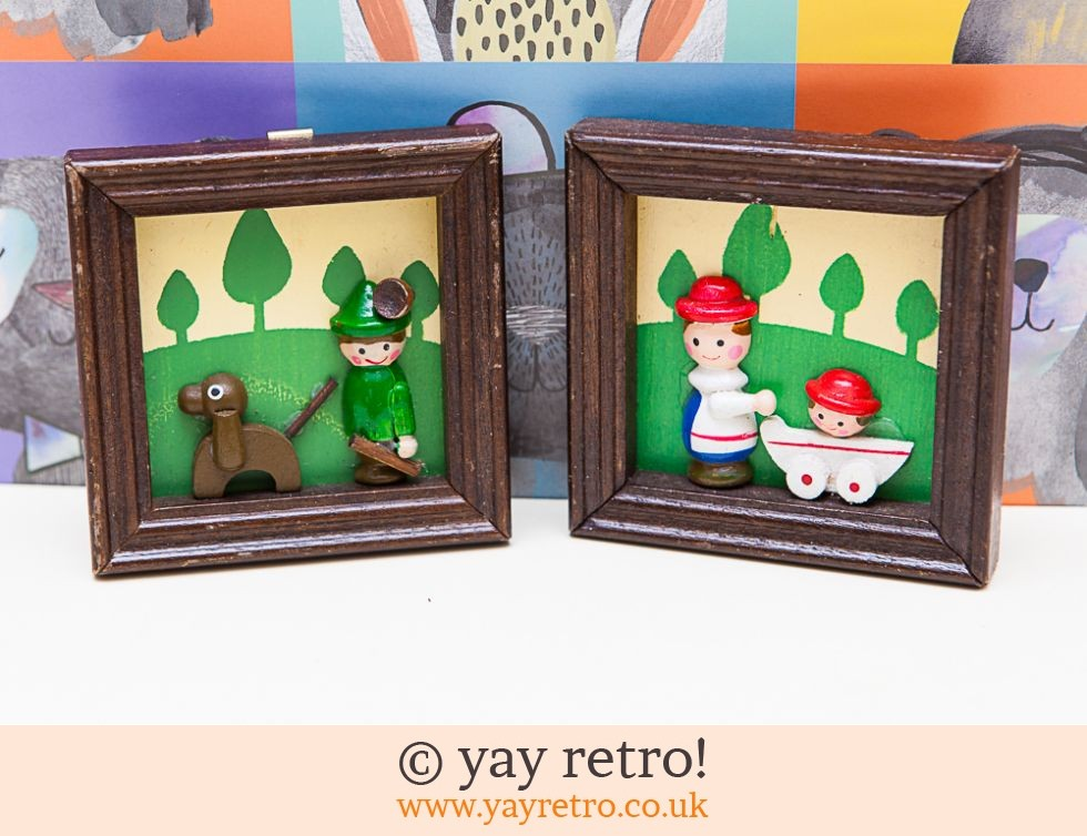 1960/70s Wooden Scandi Styled Pictures (£7.00)