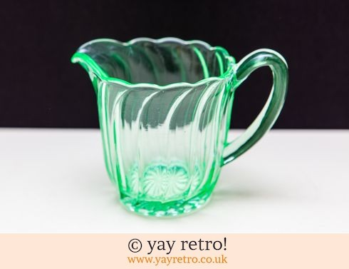 0: Uranium Glass Fluted Jug (£10.00)