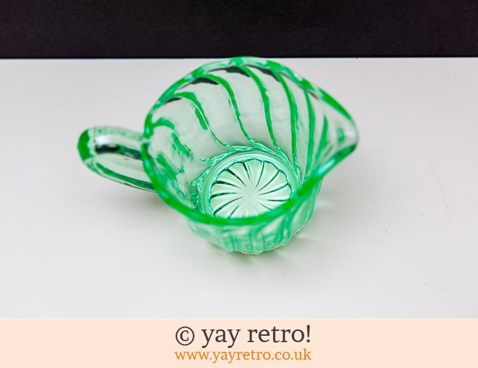 Uranium Glass Fluted Jug (£10.00)