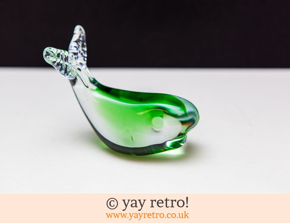 Vintage Green Glass Fish (£8.50)