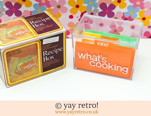 0: 1970s Recipe Card Box - Unused & Boxed (£12.75)