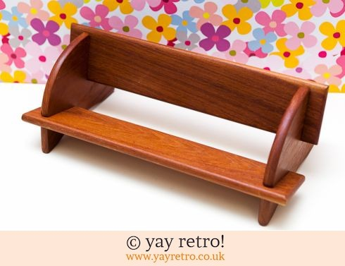 0: Teak Table Top Book Shelf (£18.50)