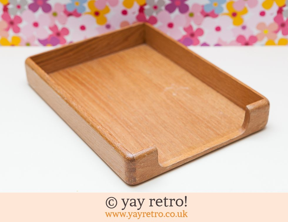 St Micheal: Vintage Wooden Paper or Serving tray (£7.00)