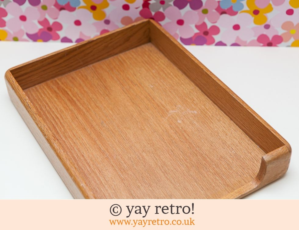 Vintage Wooden Paper or Serving tray (£7.00)