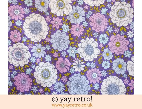 0: Purple Vintage Single Flower Power Sheet (£17.50)
