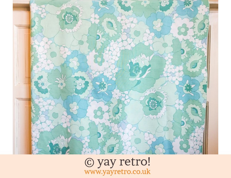 Turquoise Vintage Single Flower Power Sheet (£17.50)