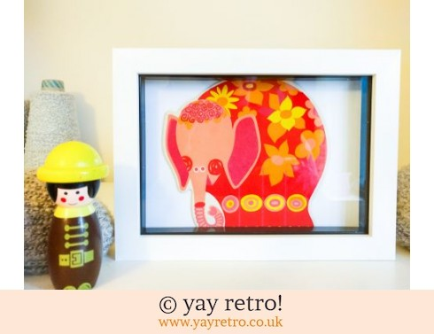 0: Kitsch 60/70s Elephant Framed 7x5 (£8.95)