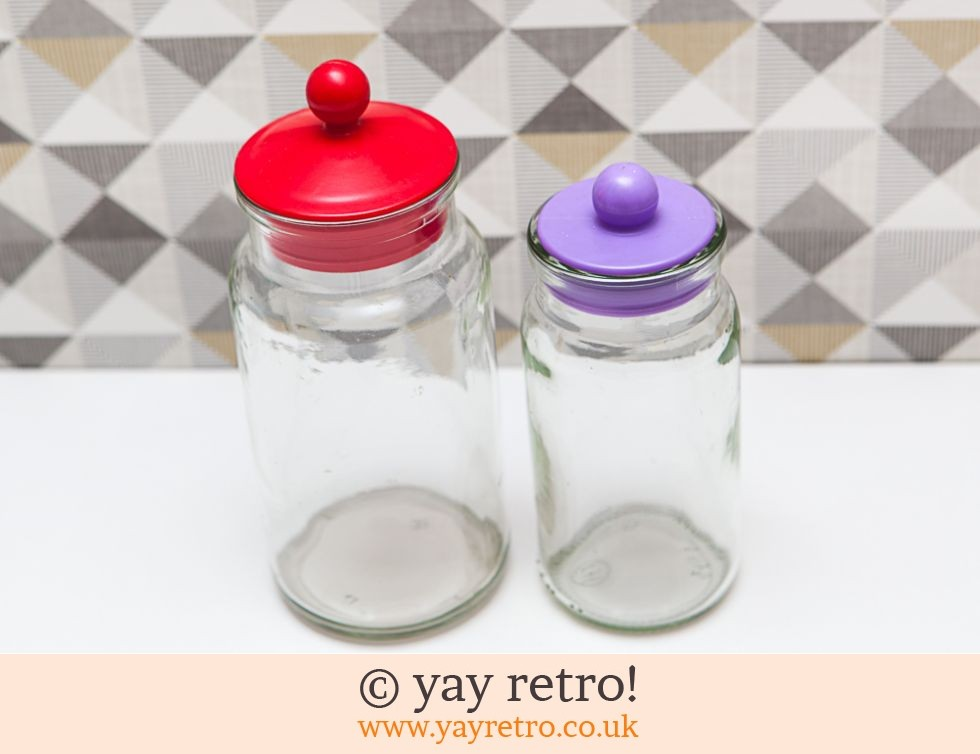 Red & Purple Sweetie Jars (£10.95)