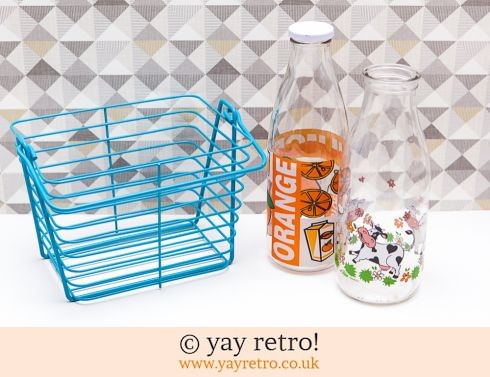 135: Vintage Orange Juice & Le Parfait Bottles + Free Wire Basket (£16.75)