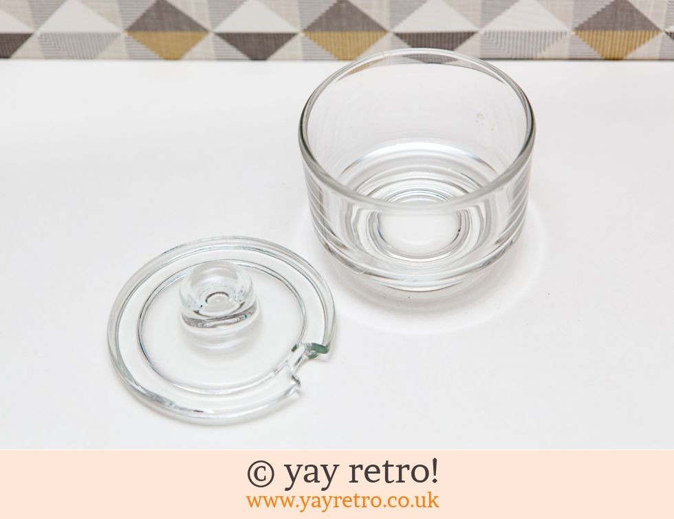 Pressed Glass Sugar Bowl 1930/40s (£7.00)