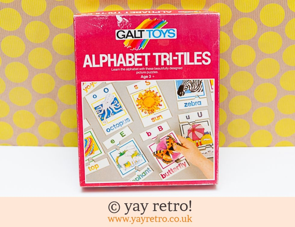 Galt Toys Vintage Tri-Tiles Alphabet Card Game (£15.00)