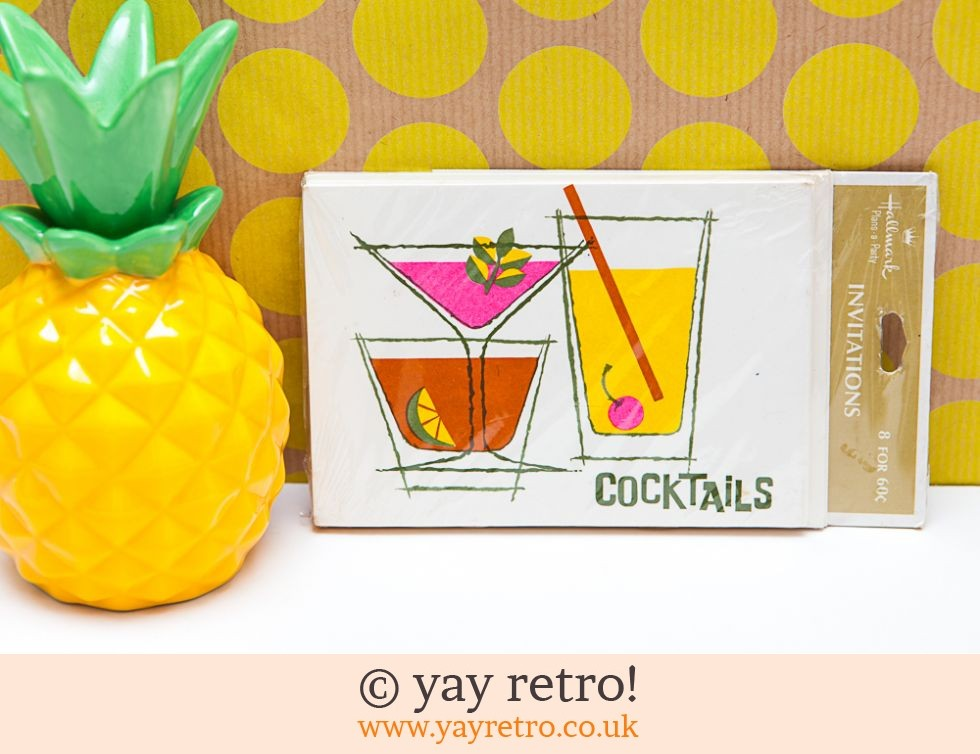 Hallmark: Vintage Cocktail Party Invites - unopened (£8.95)
