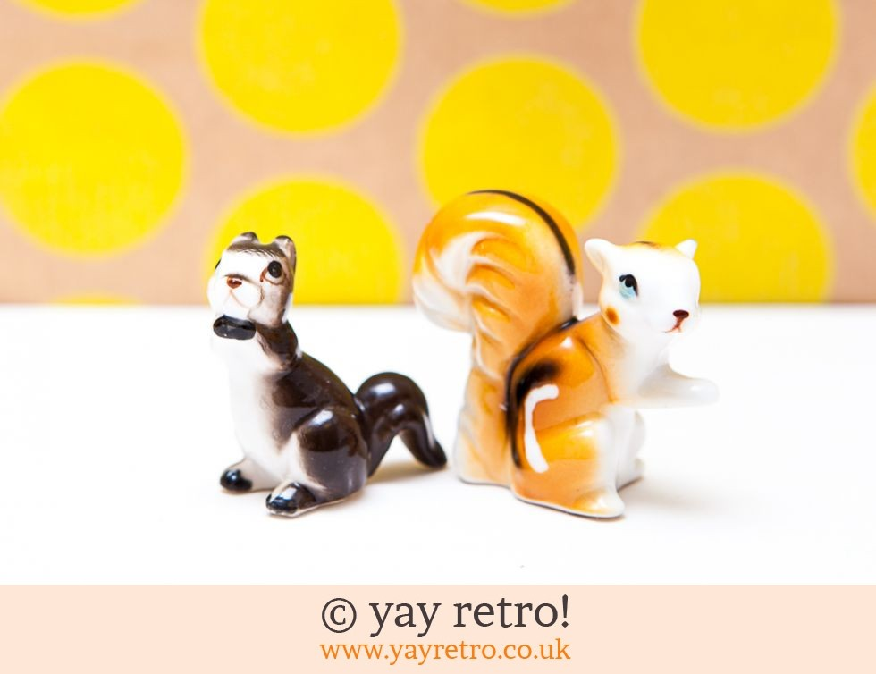 Vintage Chipmunk / Squirrel Ornament + 1 Squirrel Free! (£6.50)