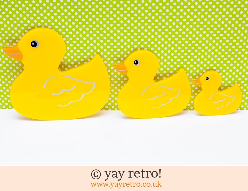Yellow Plastic Ducks Wall Art - Vintage Shop, Retro China, Glassware ...