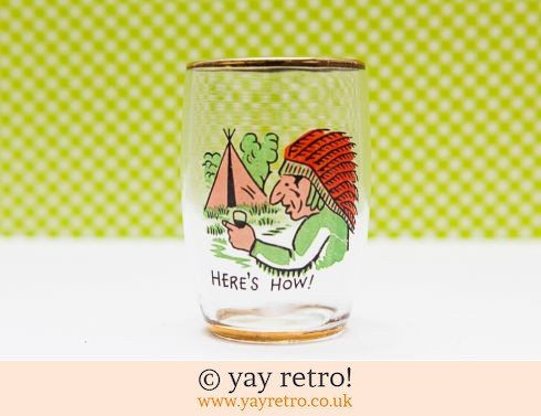 0: 1950s Red Indian Shot Glass - Kitsch! (£3.50)