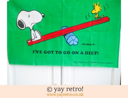 604: Snoopy & Woodstock Tea Towel (£12.75)