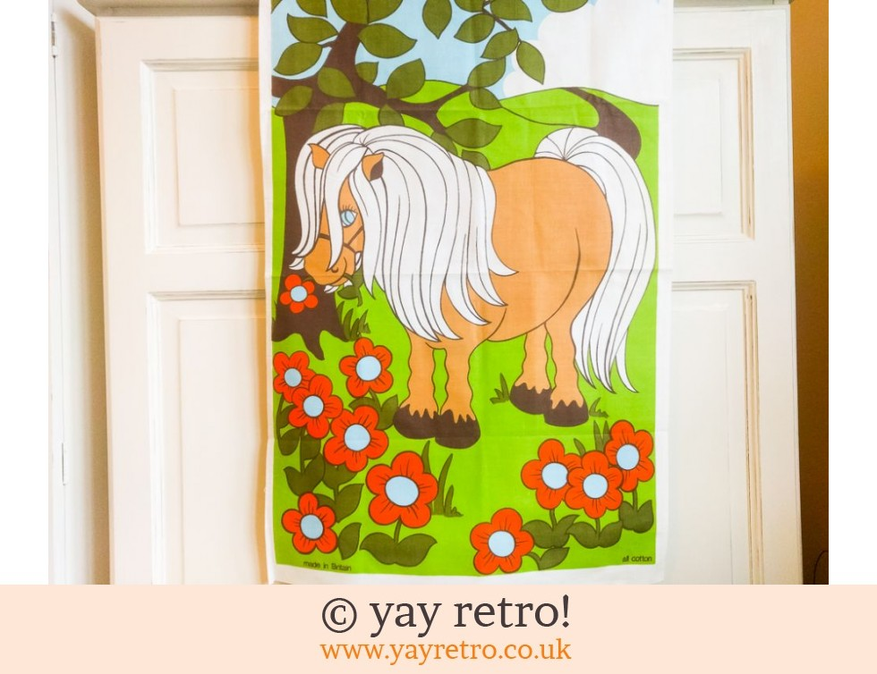 Vintage Pony Tea Towel 60/70s (£10.00)