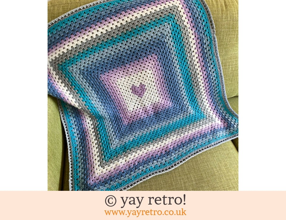 yay retro!: 'Love You' Crochet Granny Blanket (£32.95)