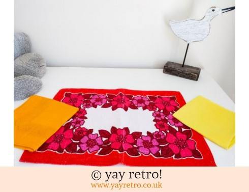 0: Vintage Linen Table Mat & 2 Napkins (£7.50)