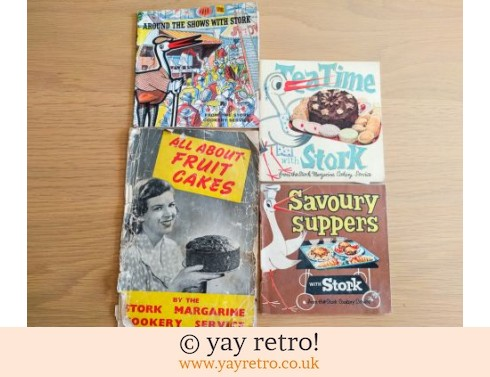 663: Set of Stork Cook Books + All About Fruit Cakes (£11.50)