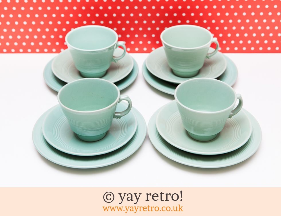 Beryl Tea Cups Saucers u0026 Plate Set x 4 (£23.00)  sc 1 st  Yay Retro & Beryl Tea Cups Saucers u0026 Plate Set x 4 - Vintage Shop Retro China ...