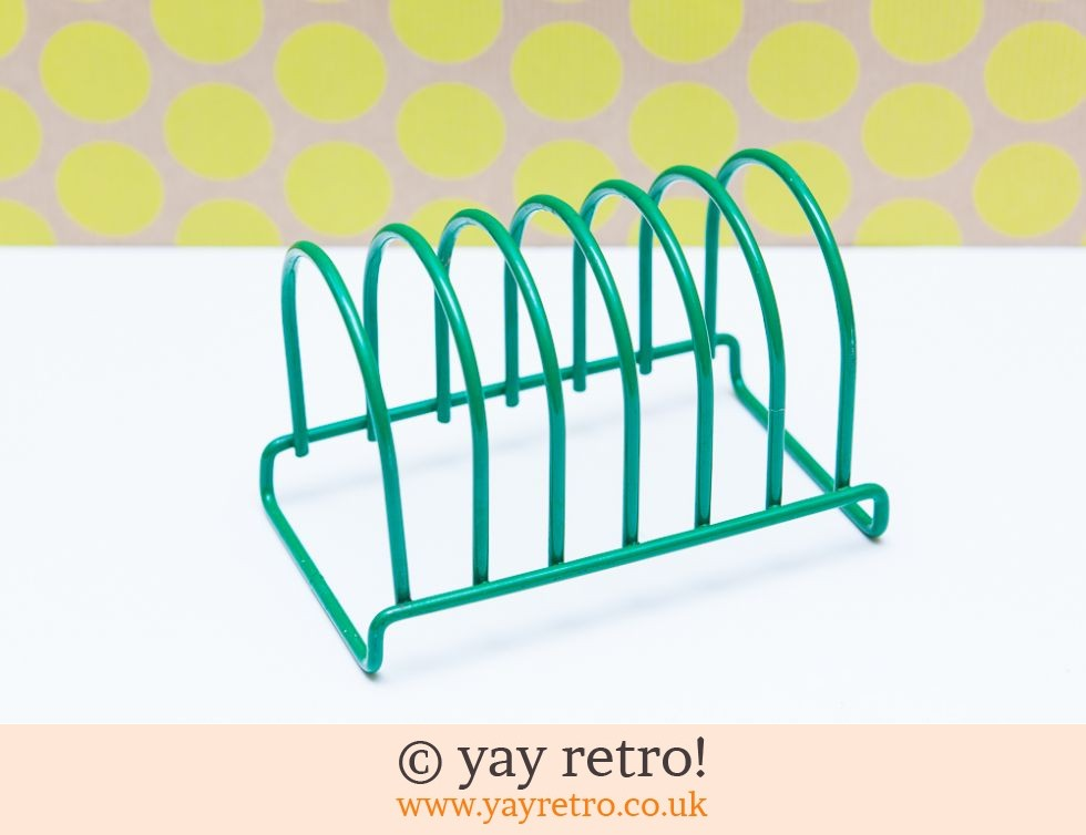 Green Wire Toast Rack - Vintage Shop, Retro China, Glassware ...