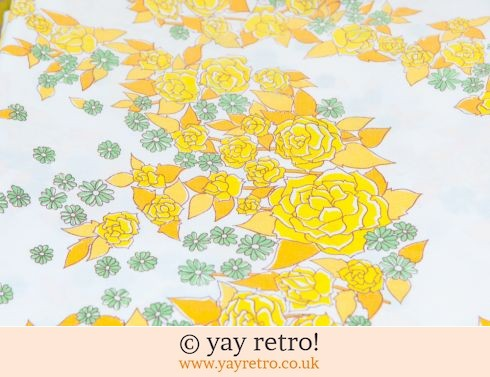 0: Vintage Double Yellow Flowery Sheet (£7.50)